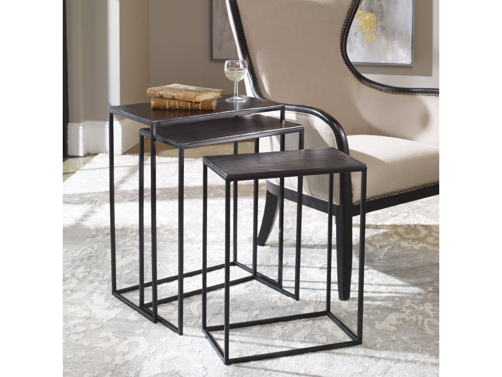 Uttermost Accent Furniture - Occasional TablesCoreene Iron Nesting Tables S/3