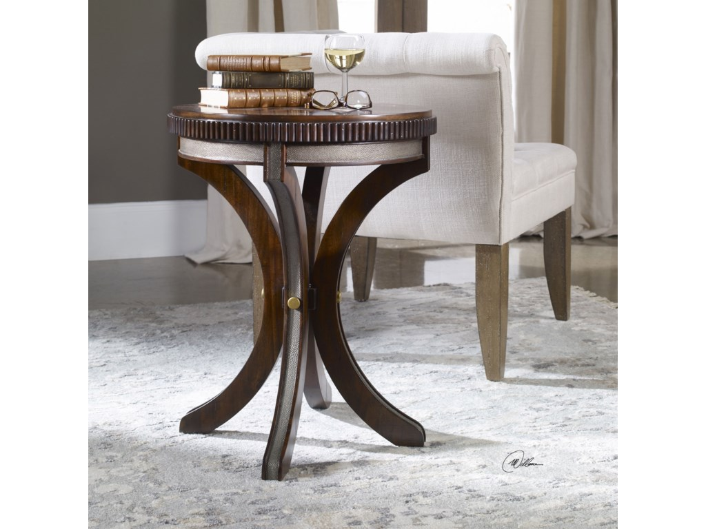 Uttermost Accent FurnitureGrae Walnut Accent Table