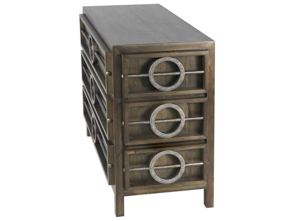 Uttermost Accent Furniture - ChestsRiley Weather Walnut Accent Chest