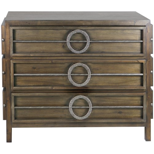 Uttermost Accent Furniture Riley Weather Walnut Accent Chest