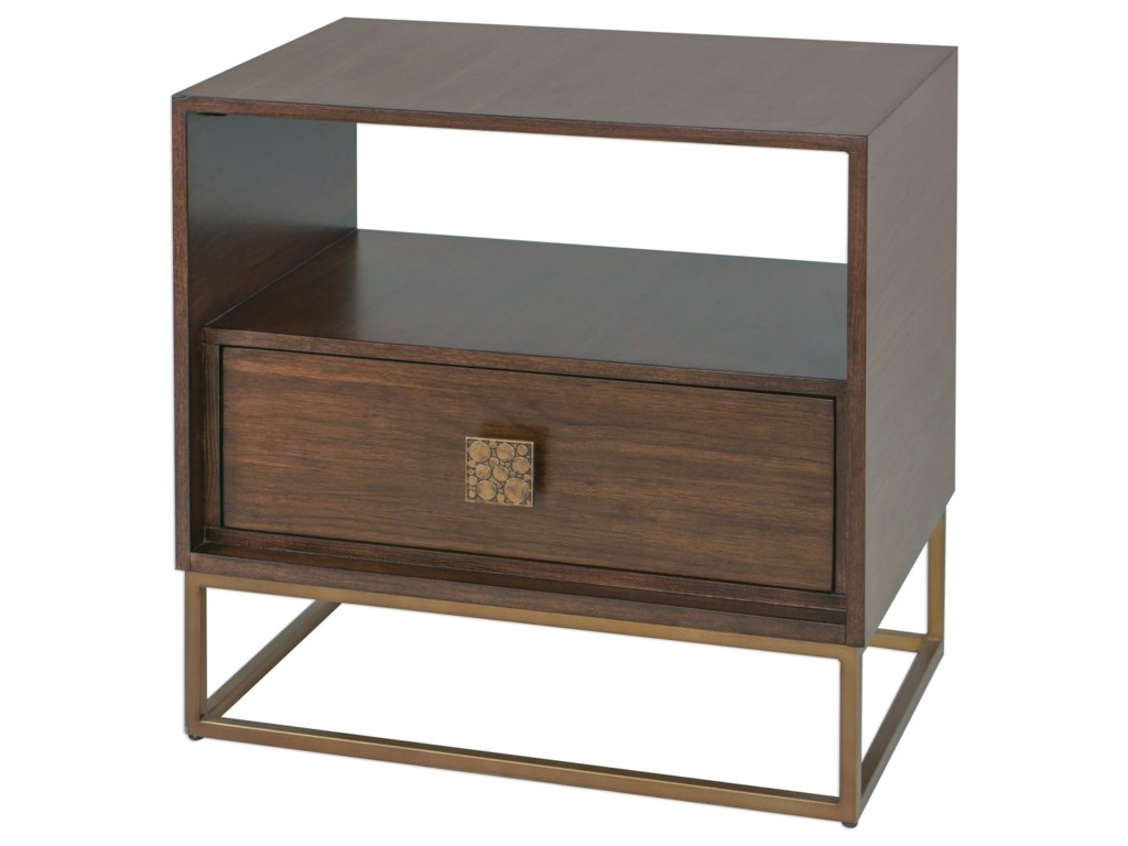 Uttermost Accent Furniture - Occasional TablesBexley Walnut Side Table