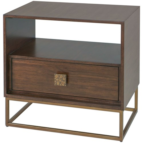 Uttermost Accent Furniture Bexley Walnut Side Table