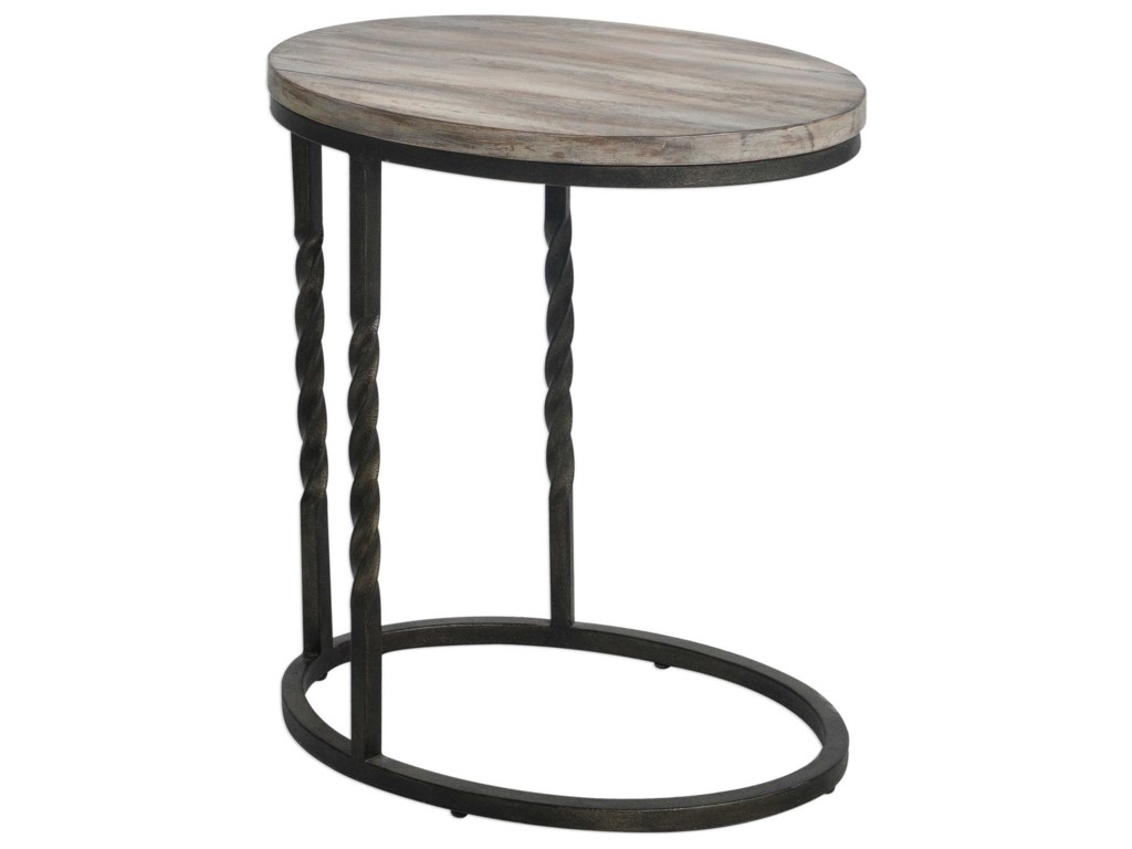 Uttermost Accent Furniture - Occasional TablesTauret Cantilever Side Table