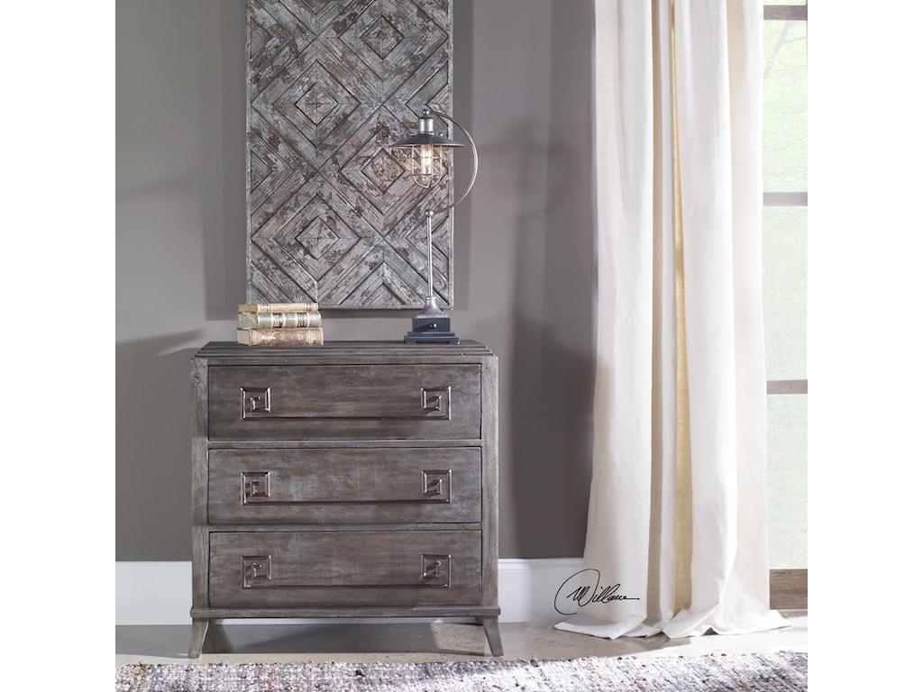 Uttermost Accent FurnitureBaseer Charred Walnut Accent Chest