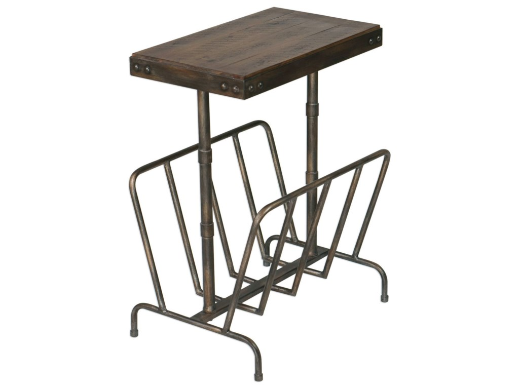 Uttermost Accent Furniture - Occasional TablesSonora Industrial Magazine Side Table