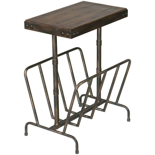 Uttermost Accent Furniture Sonora Industrial Magazine Side Table