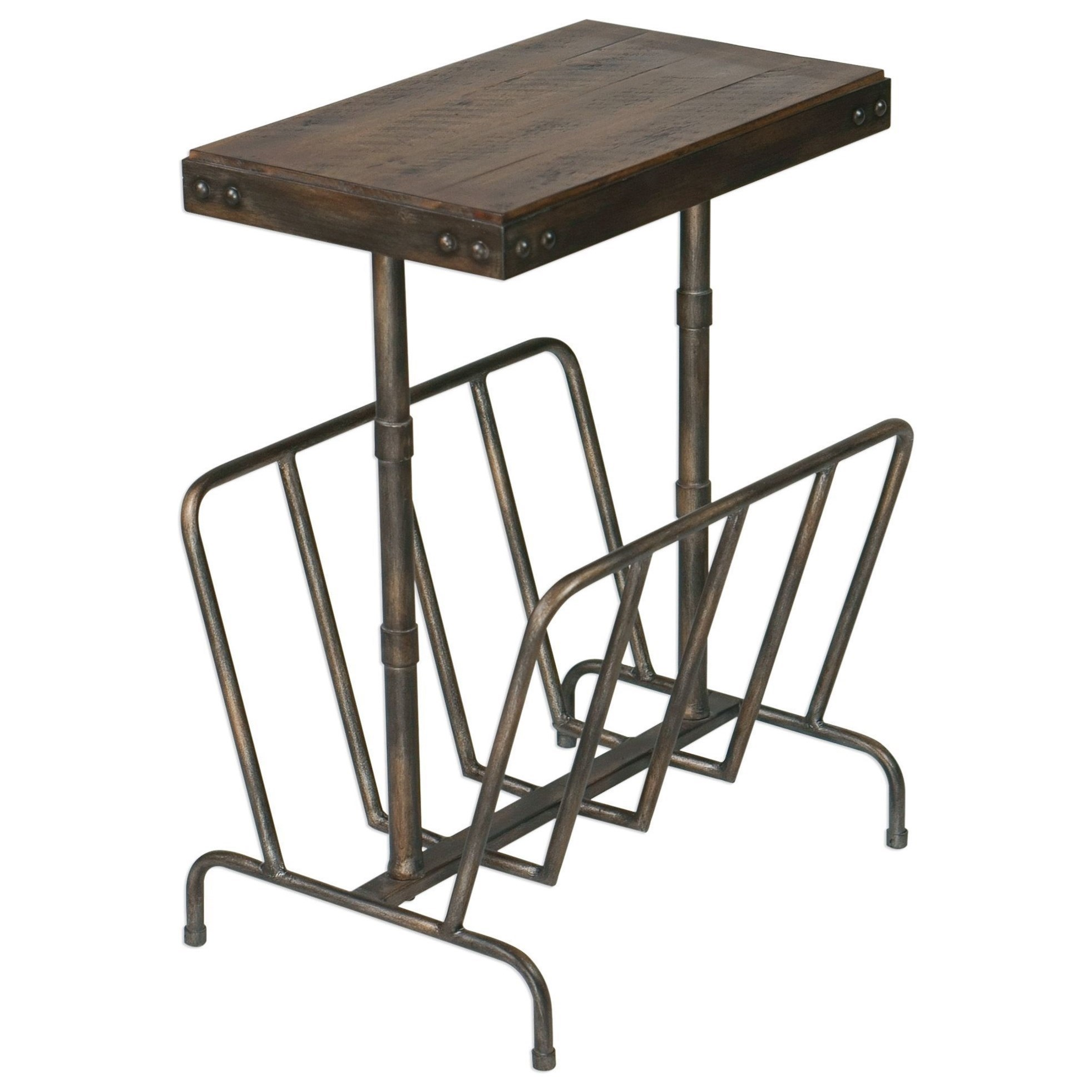 Uttermost Accent FurnitureSonora Industrial Magazine Side Table ...