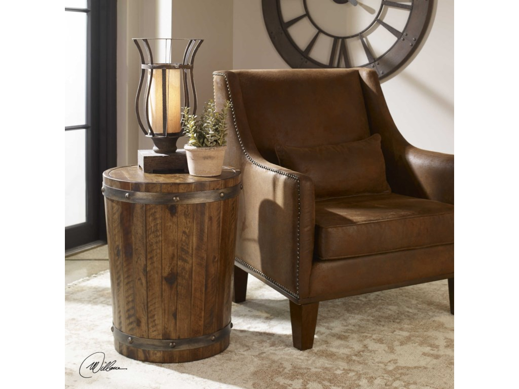 Uttermost Accent Furniture - Occasional TablesCeylon Wine Barrel Accent Table