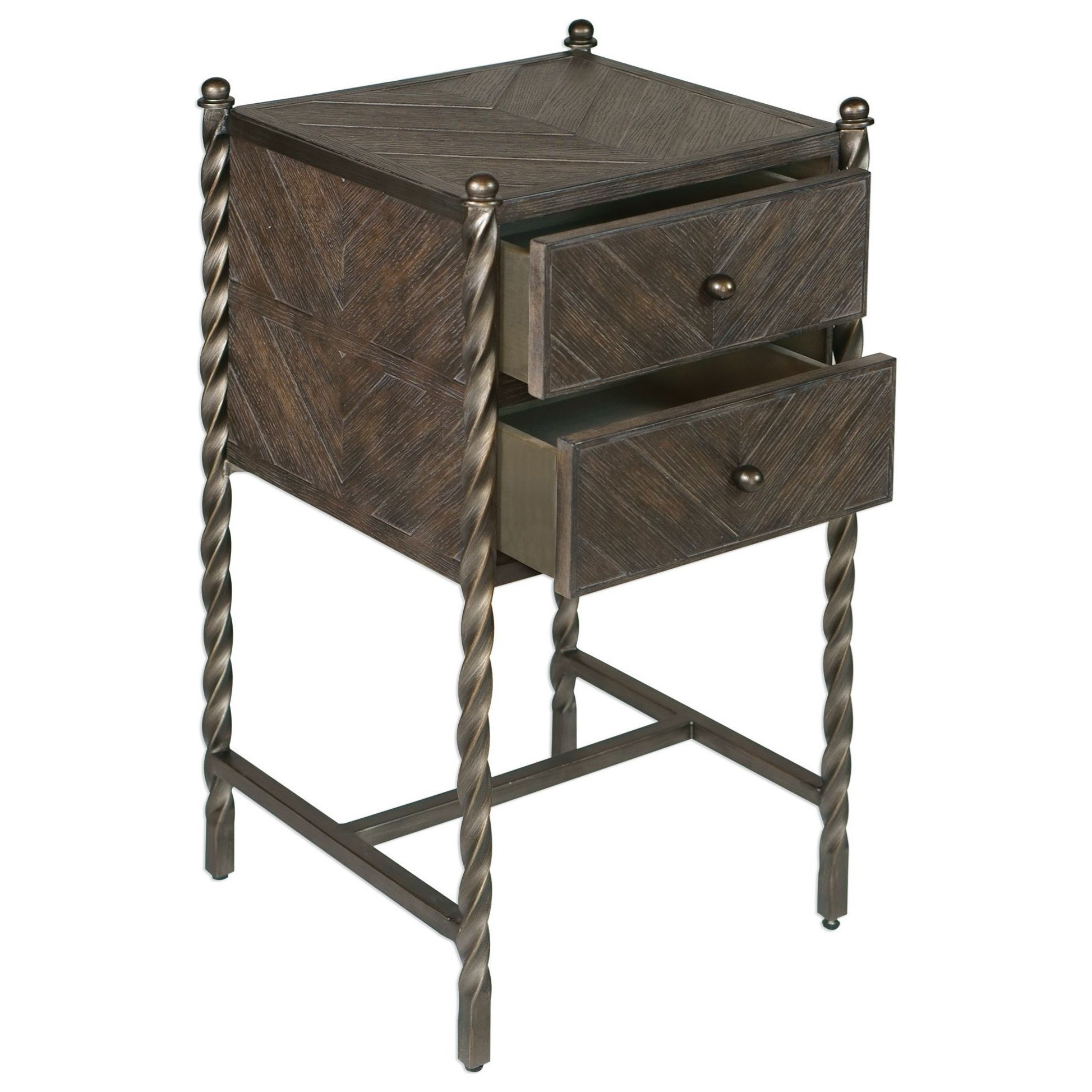 Coastal Chests of Drawers Accent Rustic Weathered Commode Wooden Storage Console
