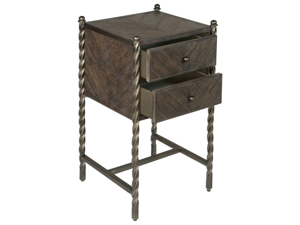 Uttermost Accent Furniture - Occasional TablesHagar Oak Accent Table