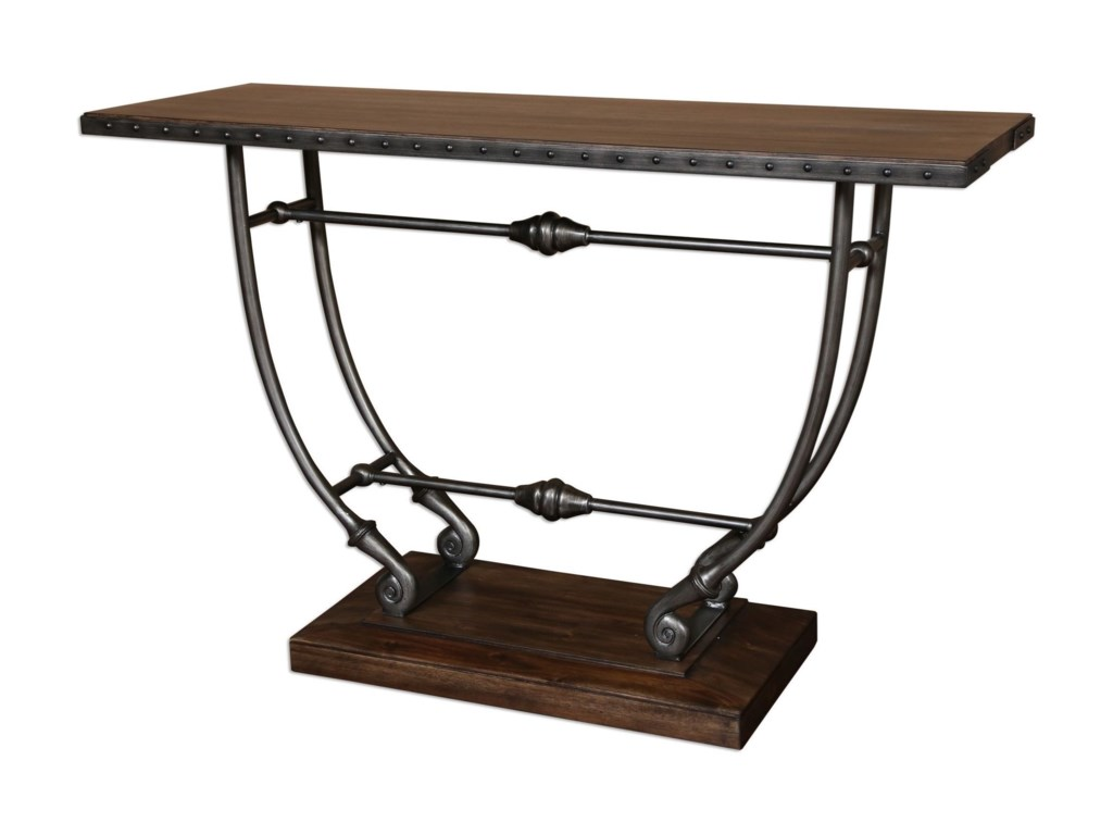 Uttermost Accent Furniturematias Walnut Console Table