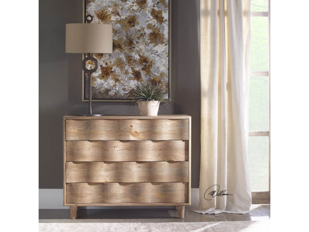 Uttermost Accent Furniture - ChestsCrawford Light Oak Accent Chest