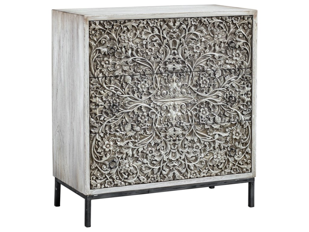 Uttermost Accent Furniture - ChestsMarina Carved Accent Chest