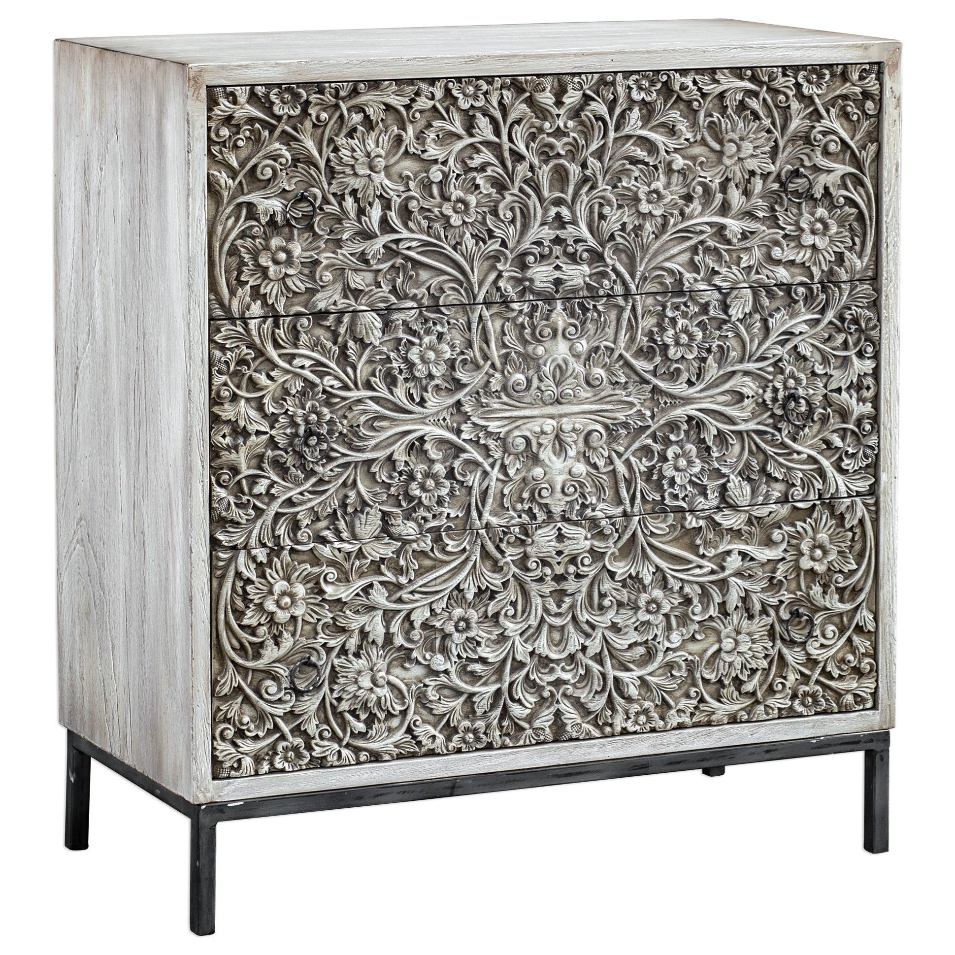 Gentil Uttermost Accent Furniture   ChestsMarina Carved Accent Chest ...