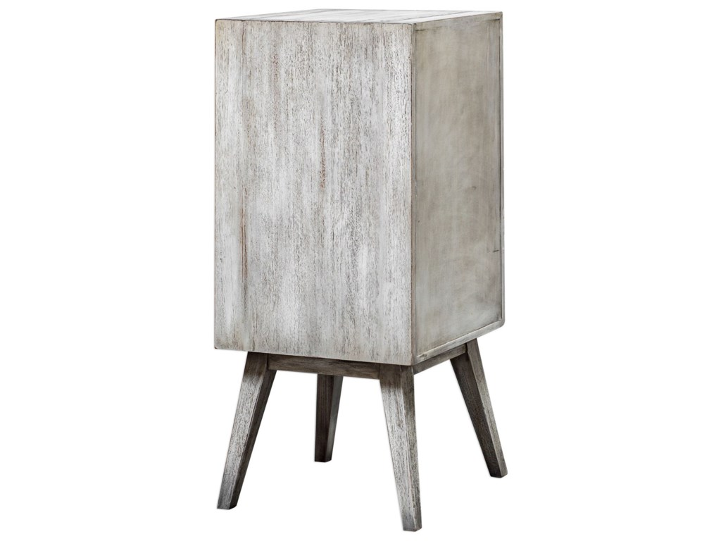 Uttermost Accent FurnitureIberia Aged White Wine Cabinet