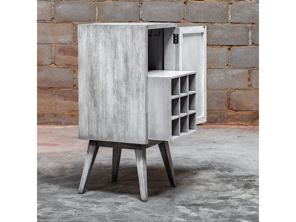 Uttermost Accent FurnitureIberia Aged White Wine Cabinet
