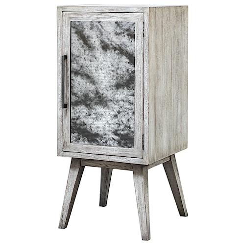 Uttermost Accent Furniture Iberia Aged White Wine Cabinet