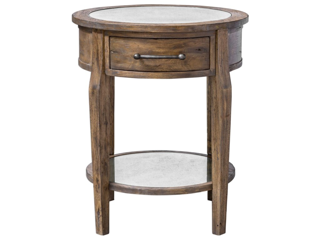Uttermost Accent Furniture Occasional Tables Raelynn Wood Lamp