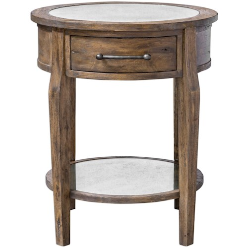 Uttermost Accent Furniture Raelynn Wood Lamp Table