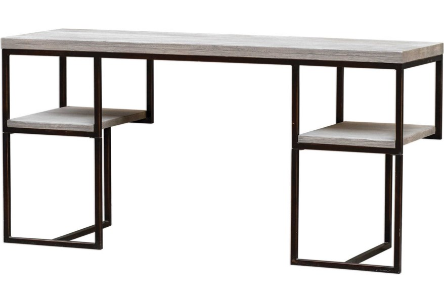 Accent Furniture Leith Modern Writing Desk by Uttermost at Dunk & Bright  Furniture