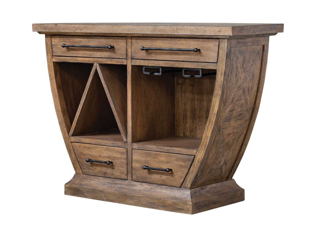 Uttermost Accent FurnitureAleph Rustic Wood Bar Cabinet