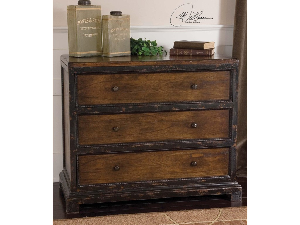 Uttermost Accent Furniture - ChestsRishi Three Drawer Chest