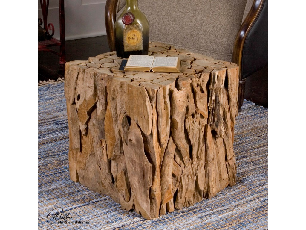 Uttermost Accent Furniture - Occasional TablesTeak Root Bunching Cube