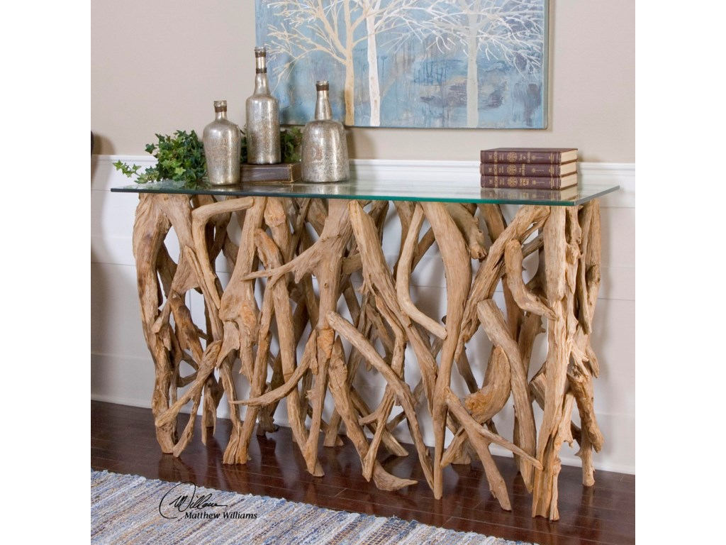 Uttermost Accent FurnitureTeak Wood Console