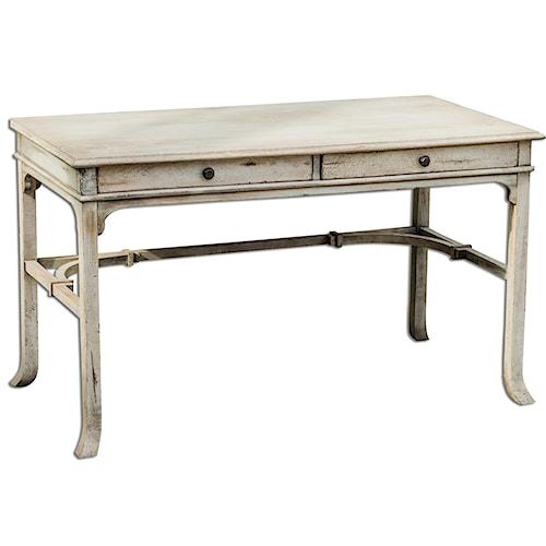 Uttermost Accent Furniture Bridgely Aged Writing Desk