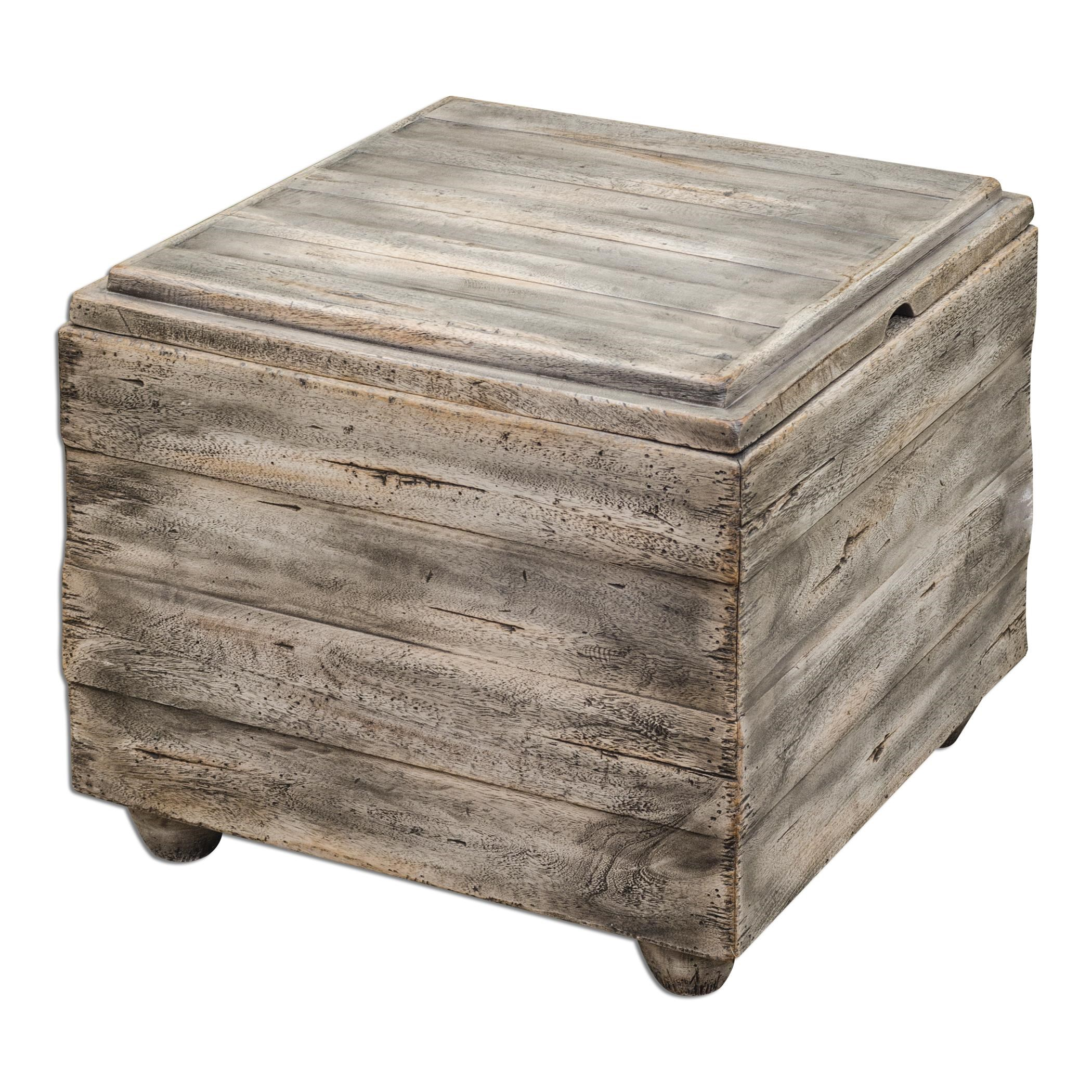 Uttermost Accent FurnitureAvner Wooden Cube Table ...
