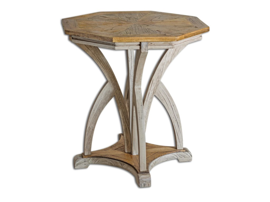 Uttermost Accent Furniture Occasional Tables Ranen Aged White