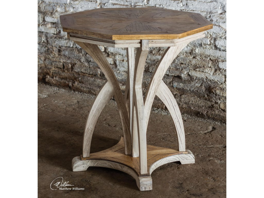 Uttermost Accent Furniture - Occasional TablesRanen Aged White Accent Table