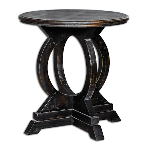 Uttermost Accent Furniture Maiva Black Accent Table