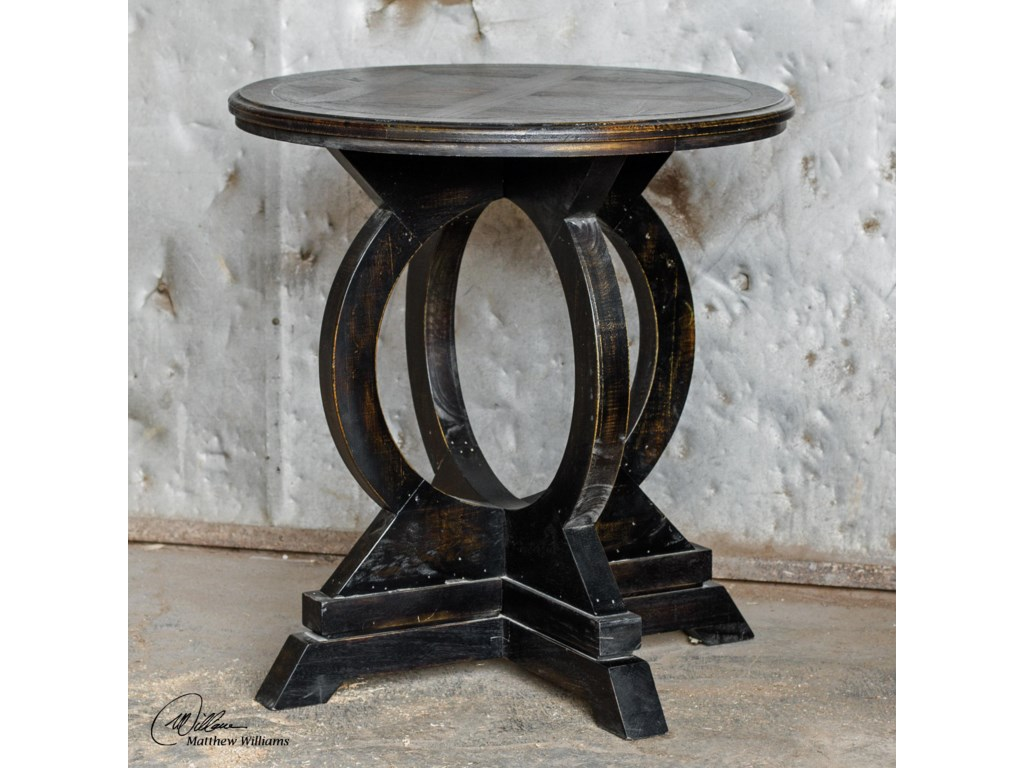 Uttermost Accent Furniture - Occasional TablesMaiva Black Accent Table