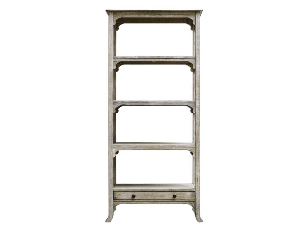 Uttermost Accent Furniture - BookcasesBridgely Aged White Etagere