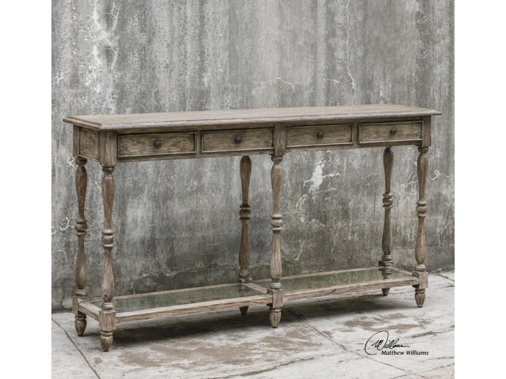 Uttermost Accent FurnitureFortuo Weathered Console Table