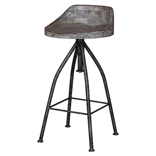 Uttermost Accent Furniture Kairu Wooden Bar Stool
