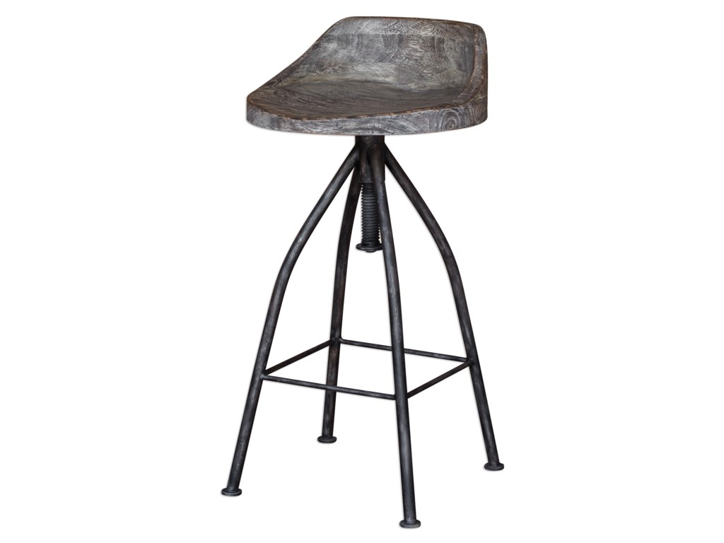 Uttermost Accent FurnitureKairu Wooden Bar Stool