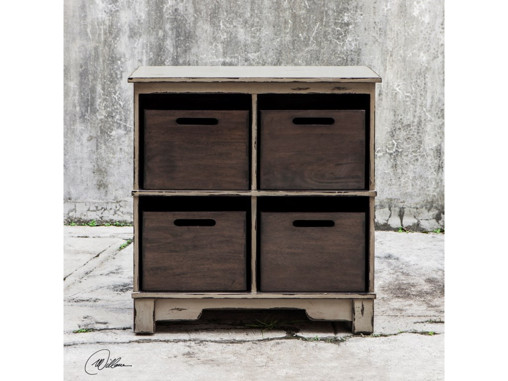 Uttermost Accent Furniture Ardusin Gray Hobby Cupboard