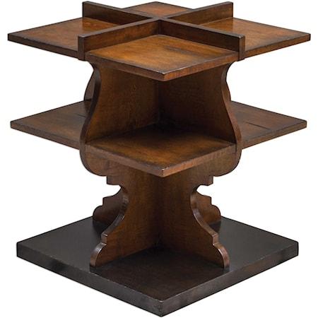 Niko Honey Accent Table