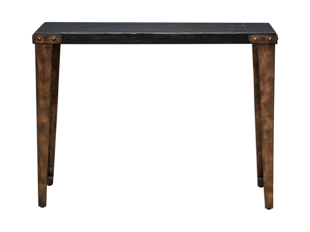 Uttermost Accent FurnitureAtilo Worn Black Console Table