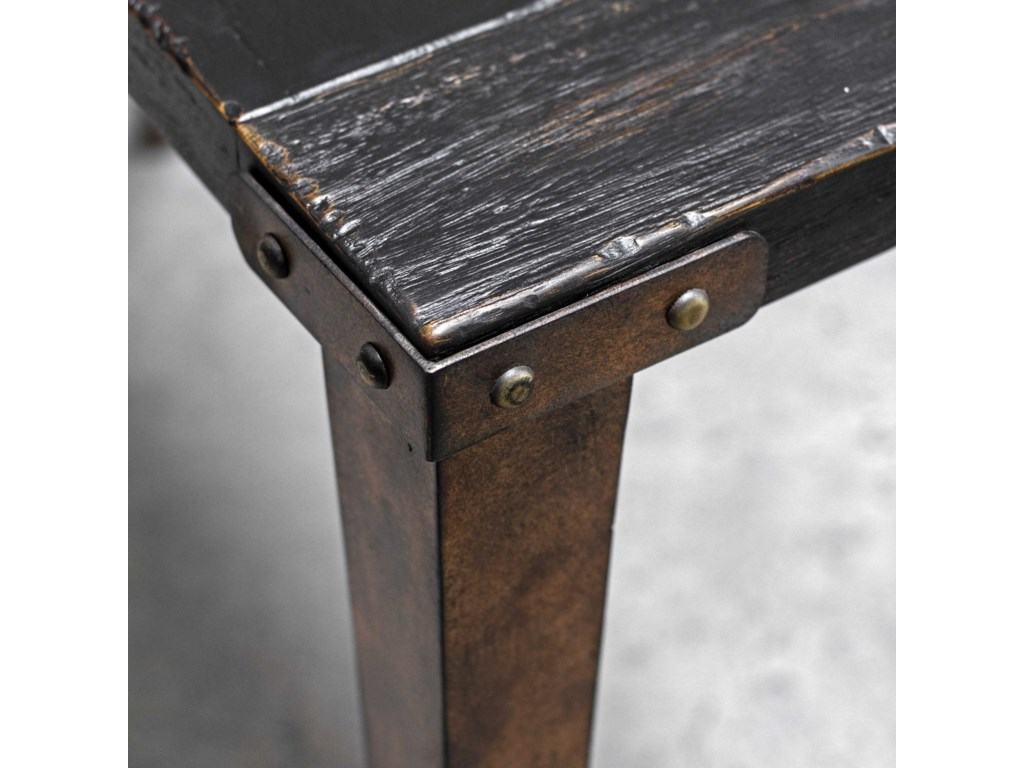 Uttermost Accent FurnitureAtilo Worn Black Console Table