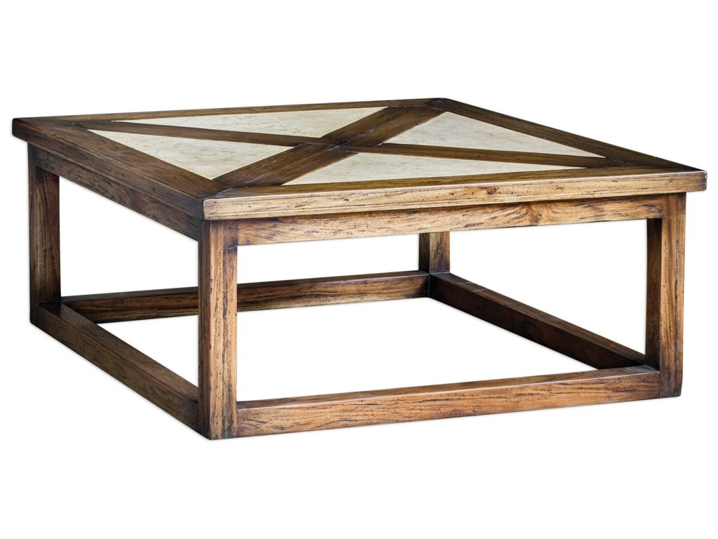 Uttermost Accent Furniture - Occasional TablesAkono Honey Coffee Table
