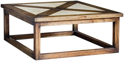 Uttermost Accent Furniture Akono Honey Coffee Table