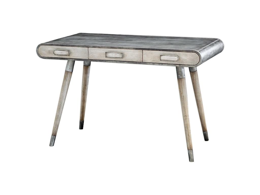 Uttermost Accent FurnitureLocklear Retro Aviator Writing Desk