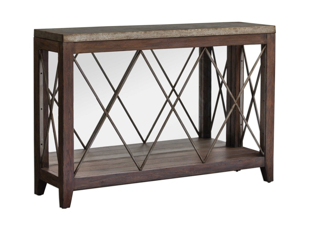 Uttermost Accent Furniture - Occasional TablesDelancey Iron Console Table