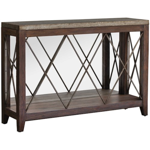 Uttermost Accent Furniture Delancey Iron Console Table