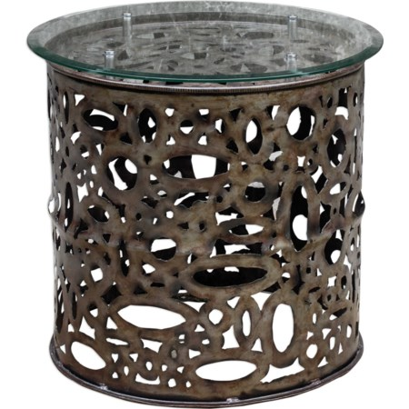 Zama Industrial Accent Table