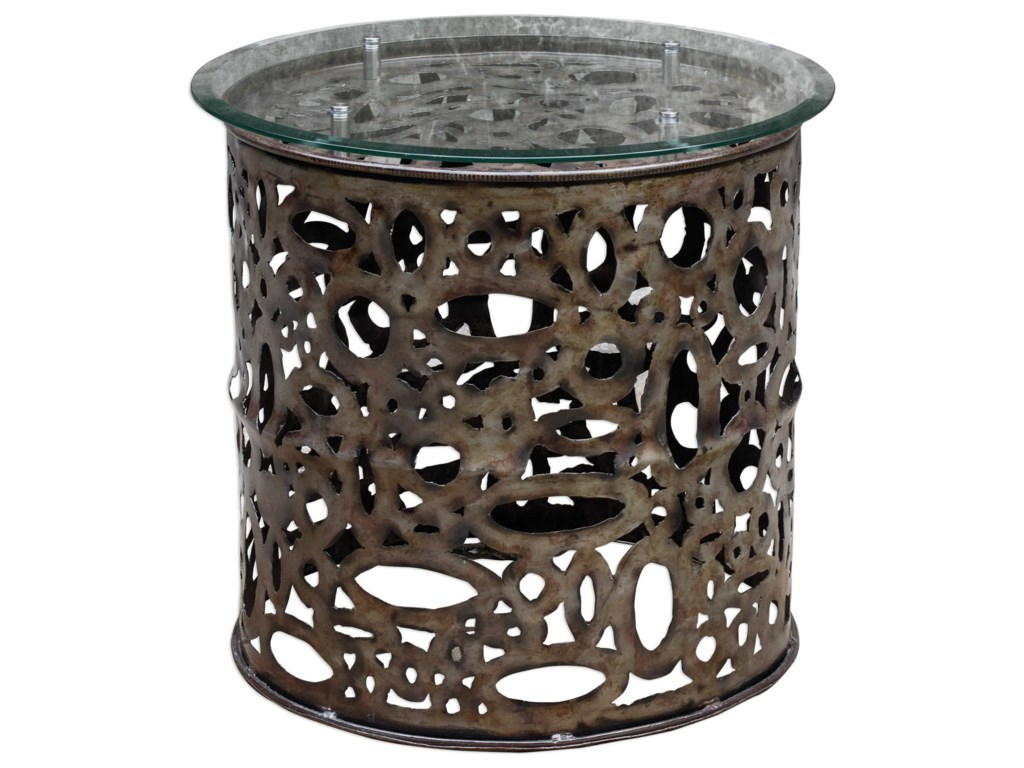 Uttermost Accent Furniture - Occasional TablesZama Industrial Accent Table