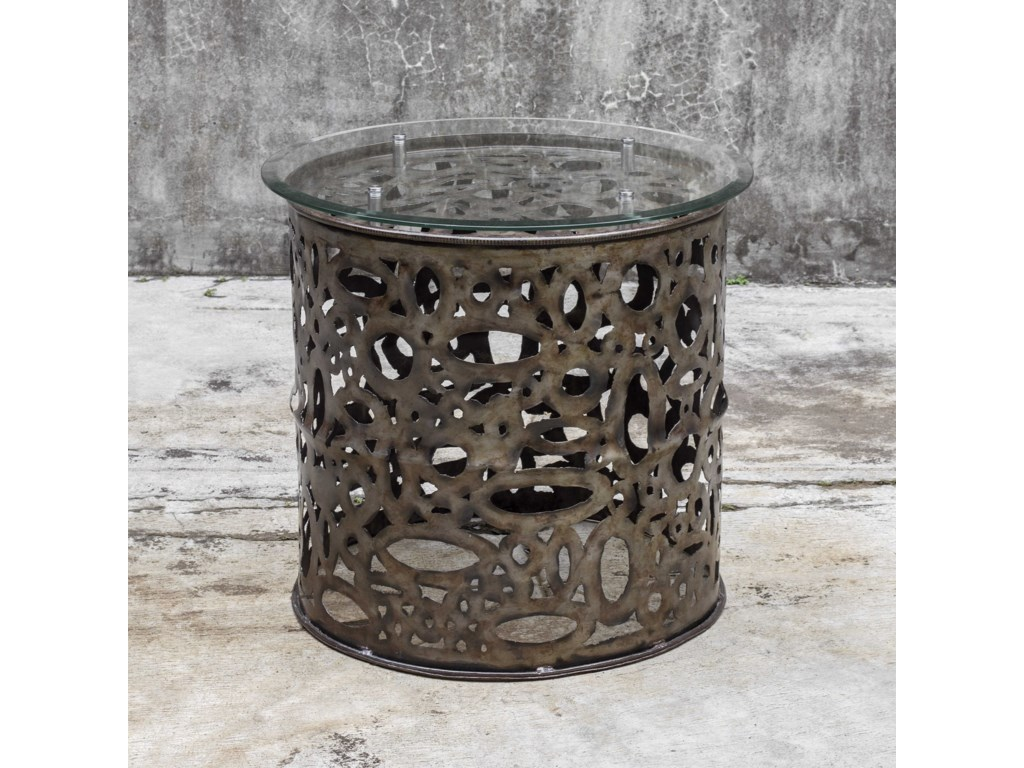 Uttermost Accent FurnitureZama Industrial Accent Table